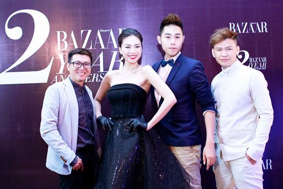 Trương Ngọc Ánh diện váy đỏ quyến rũ, dự tiệc cùng nhà thiết kế trẻ ảnh 5