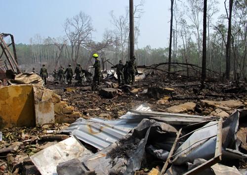 Toàn cảnh vụ nổ thảm khốc kho pháo hoa tại Phú Thọ ảnh 3