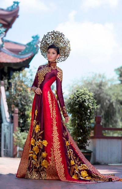Hình ảnh Trương Thị May diện quốc phục tại Miss Universe 2013 ảnh 2