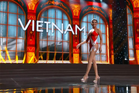 Trương Thị May tự tin diễn bikini tại bán kết Miss Universe 2013 ảnh 1
