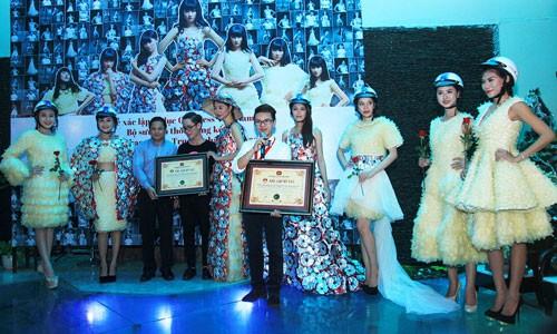 Trà My diện trang phục BCS, xác lập kỷ lục Guinness Việt Nam ảnh 1