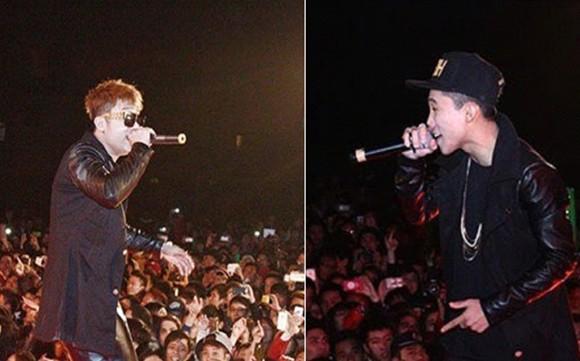 """2 ca sĩ Yanbi và Mr.T biểu diễn bài hát """"Thu cuối"""" tại sân vận động Hồ Sen- Lê Chân- Hải Phòng"""