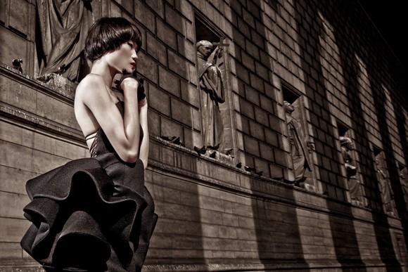 Kha Mỹ Vân đầy mê hoặc trong trang phục đen ảnh 3