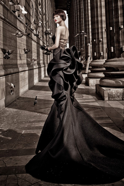Kha Mỹ Vân đầy mê hoặc trong trang phục đen ảnh 4