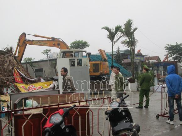 Cưỡng chế, giải phóng mặt bằng khu đất đường Trần Thái Tông