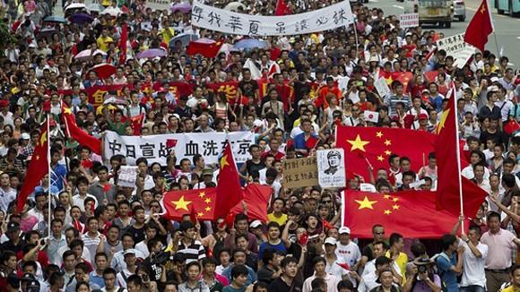 Một người biểu tình chống Nhật ở Trung Quốc tử vong ảnh 1