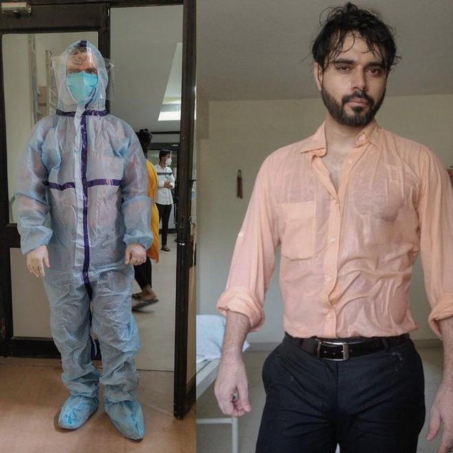 """Giữa đại dịch Covid-19, bức ảnh bác sĩ Ấn Độ ướt đẫm mồ hôi gây """"bão"""" mạng ảnh 1"""