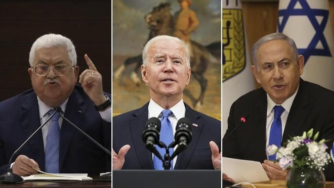 Tổng thống Mỹ điện đàm với lãnh đạo Israel-Palestine ảnh 1