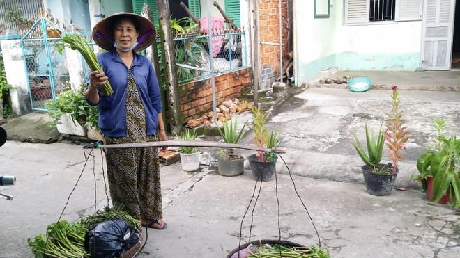 Bó rau muống ruộng giá 2.000 đồng của bà cụ người Khmer nghèo ảnh 1