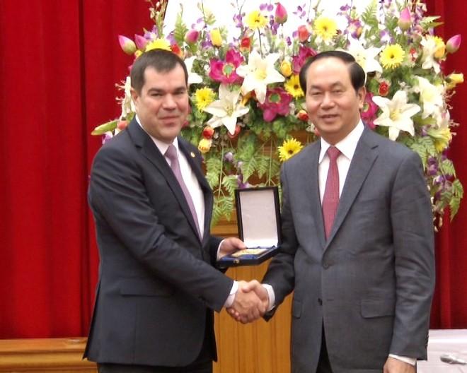 Hội đàm cấp cao giữa Bộ Công an Việt Nam và Ủy ban An ninh Belarus ảnh 1