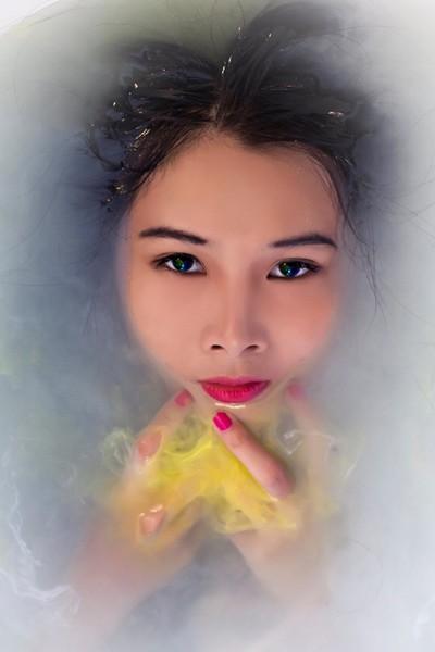 Người mẫu Xuân Thuỳ cực ấn tượng với nước màu ảnh 4