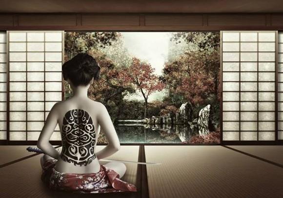 Người mẫu Xuân Thuỳ hoá thân thành nữ kiếm sĩ Samurai ảnh 1