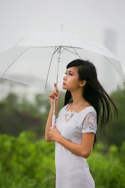 Người mẫu Xuân Thuỳ sành điệu bất chấp thời tiết ảnh 5