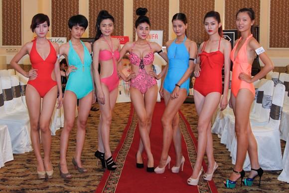 Thí sinh Vietnam's Next Top Model khoe cơ bắp trong phần thi hình thể ảnh 4