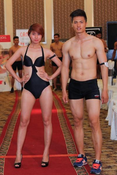 Thí sinh Vietnam's Next Top Model khoe cơ bắp trong phần thi hình thể ảnh 15