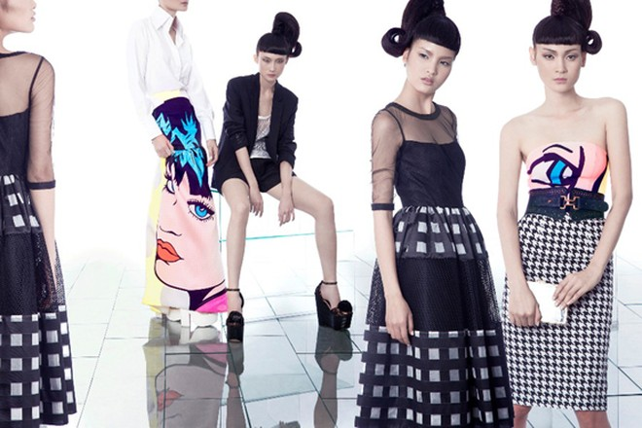 Kha Mỹ Vân, Thùy Trang và Chà Mi nổi bật với phong cách Pop Art ảnh 2