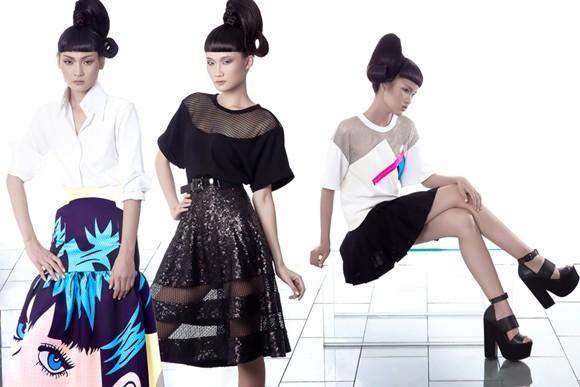 Kha Mỹ Vân, Thùy Trang và Chà Mi nổi bật với phong cách Pop Art ảnh 3
