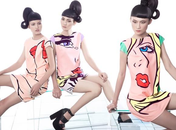 Kha Mỹ Vân, Thùy Trang và Chà Mi nổi bật với phong cách Pop Art ảnh 4